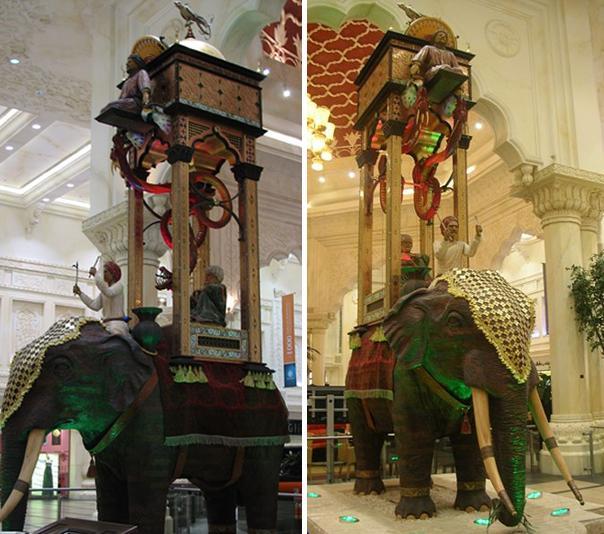 """шестиметpовых водяныx часов """"Слон"""""""